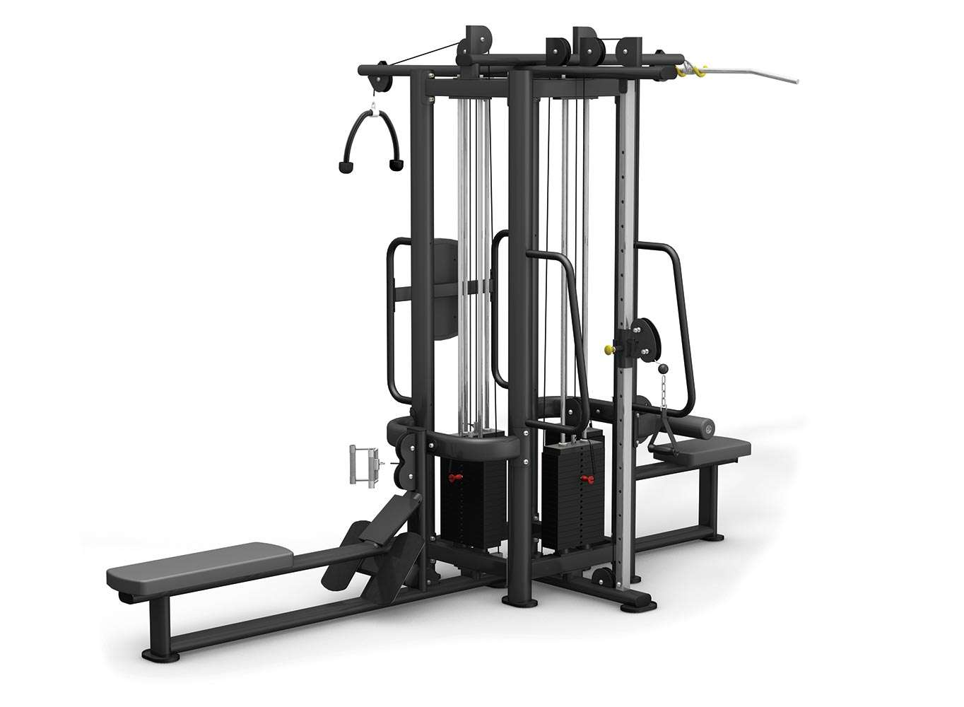 Extreme Core - Commercial 4 Stack Multi-Jungle Gym ...