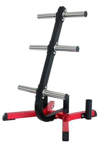 Olympic Weight Plate Holder With 3 Barbell Holders
