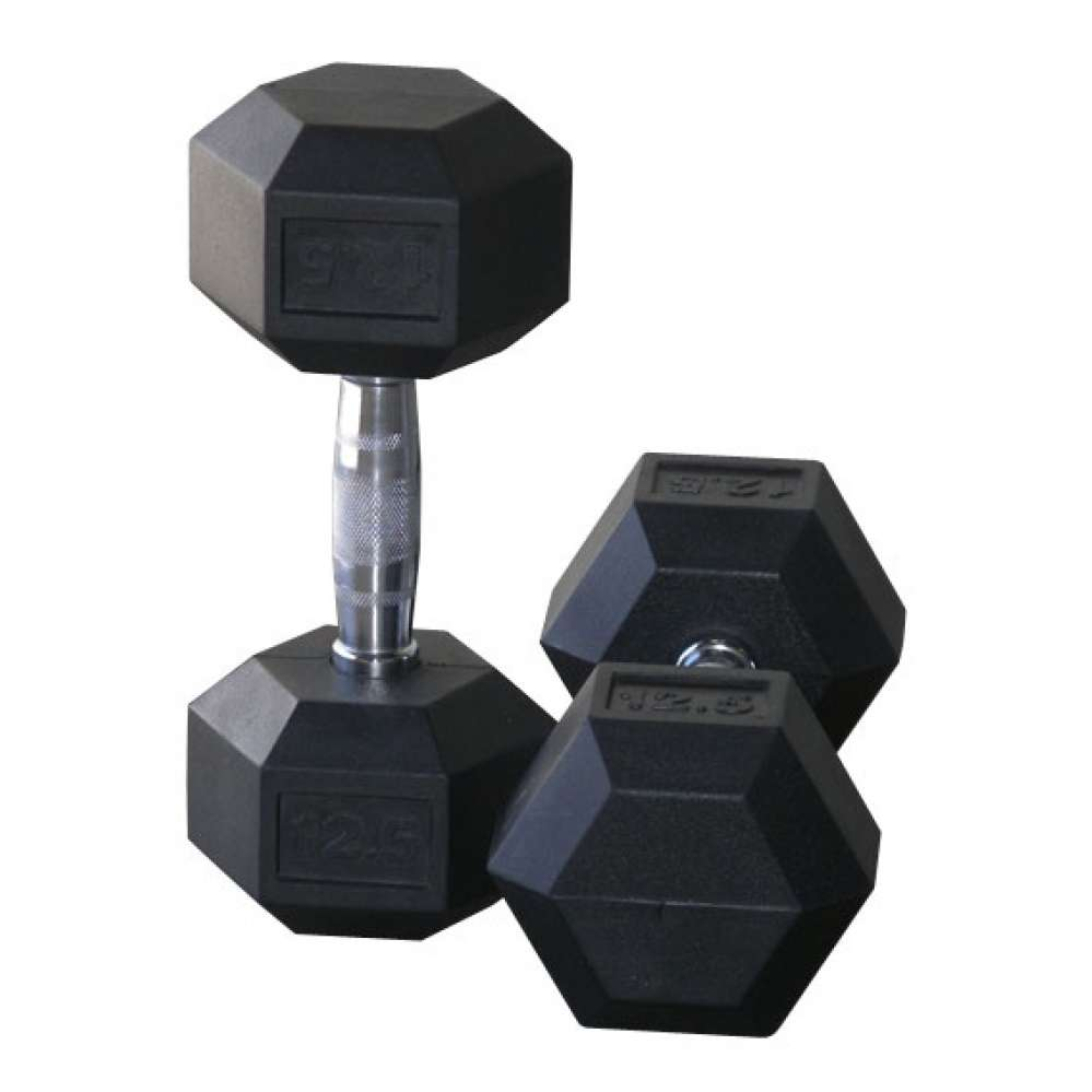 Rubber Hex Dumbbells *NEW STOCK JUST ARRIVED*