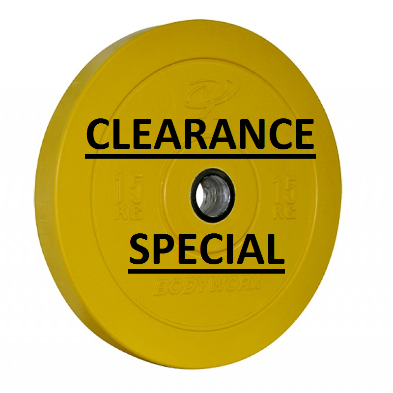 Bodyworx 15KG Coloured Bumper Plate – Clearance Special Price $4kg