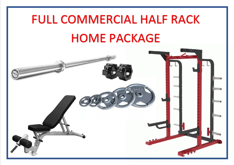Full Commercial Half Rack Home Package