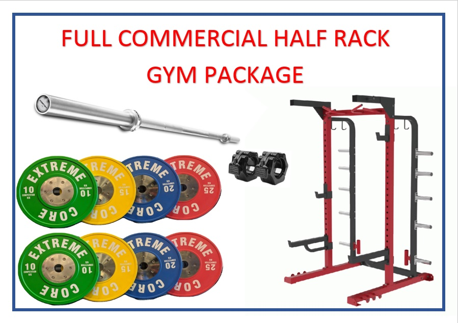 Full Commercial Half Rack Gym Package