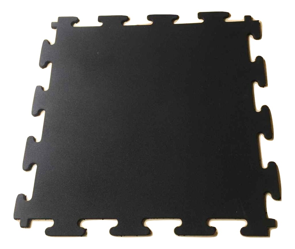 Extreme Core Black Interlocking Rubber Gym Flooring 1m x 1m x 15mm